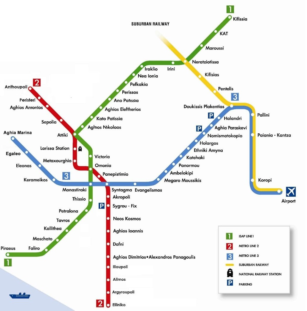 23rd Annual Conference Athens Metro Map